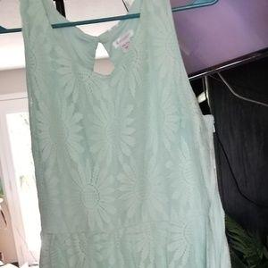 LIKE NEW Junior's XXL Mint Lace Dress